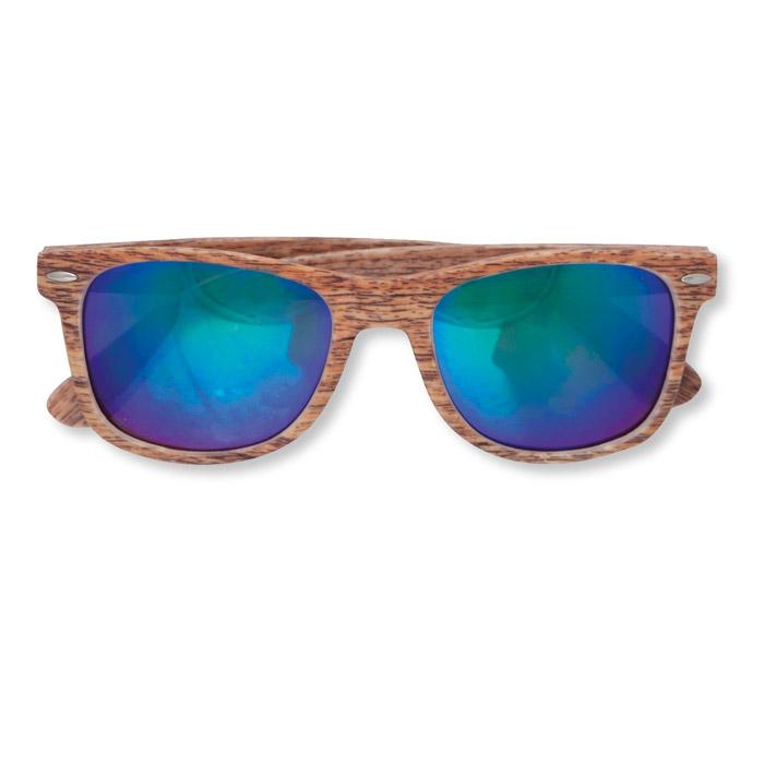 Gafas de sol efecto madera espejo