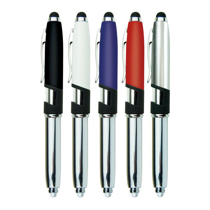 Bolígrafo soporte con luz y touch