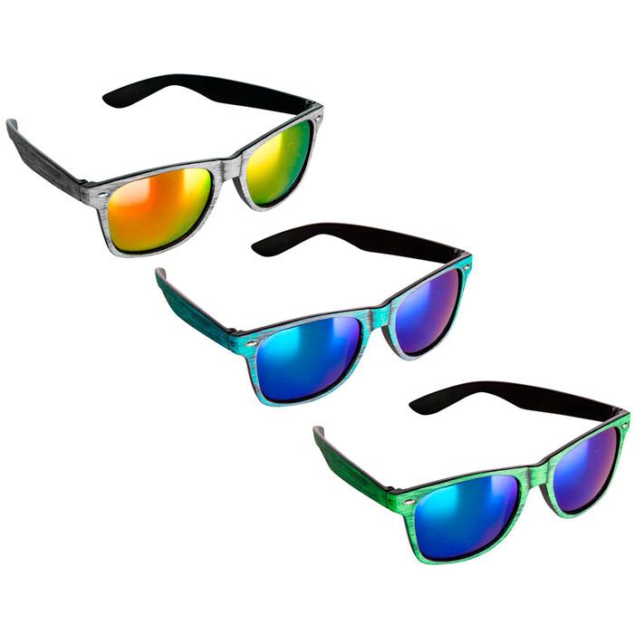 Gafas de sol espejo efecto madera color