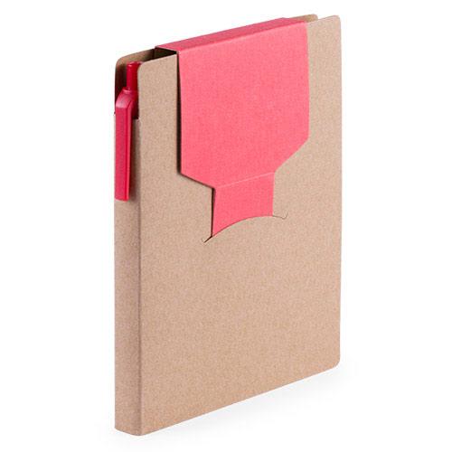 Set eco con bloc, notas adhesivas y bolígrafo