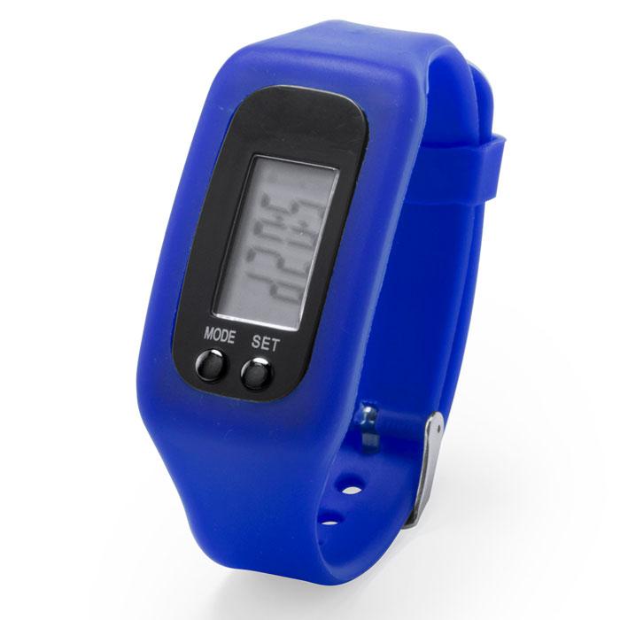 Reloj digital con podómetro