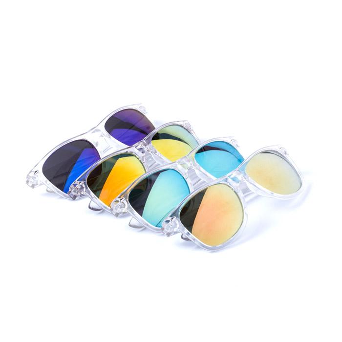 Gafas transparente cristal espejo color