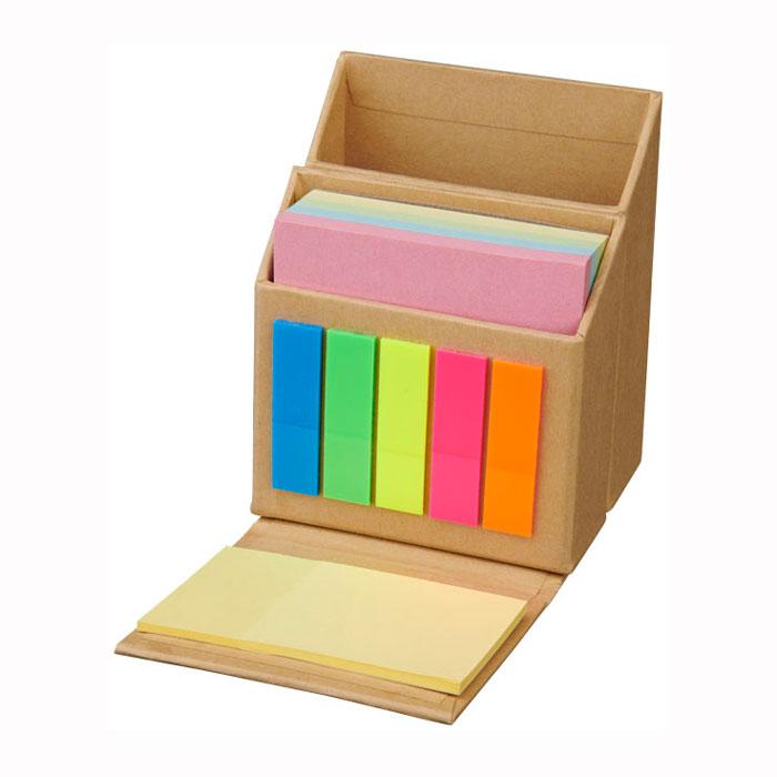Organizador cartón tacos notas adhesivas