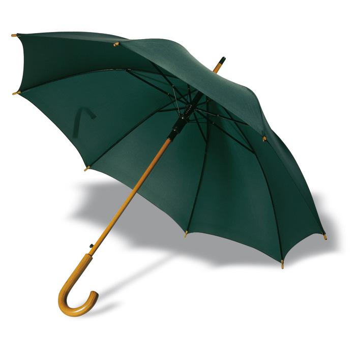 Paraguas automático mango madera