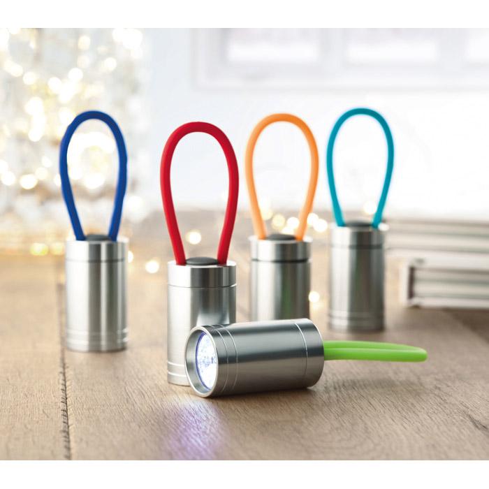 Linterna aluminio y silicona 6 LEDs