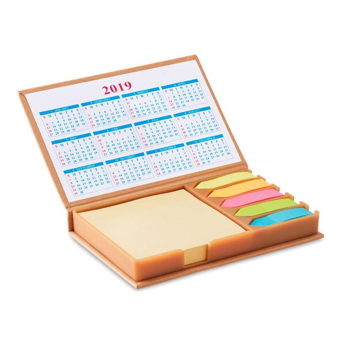 Set hojas adhesivas con calendario