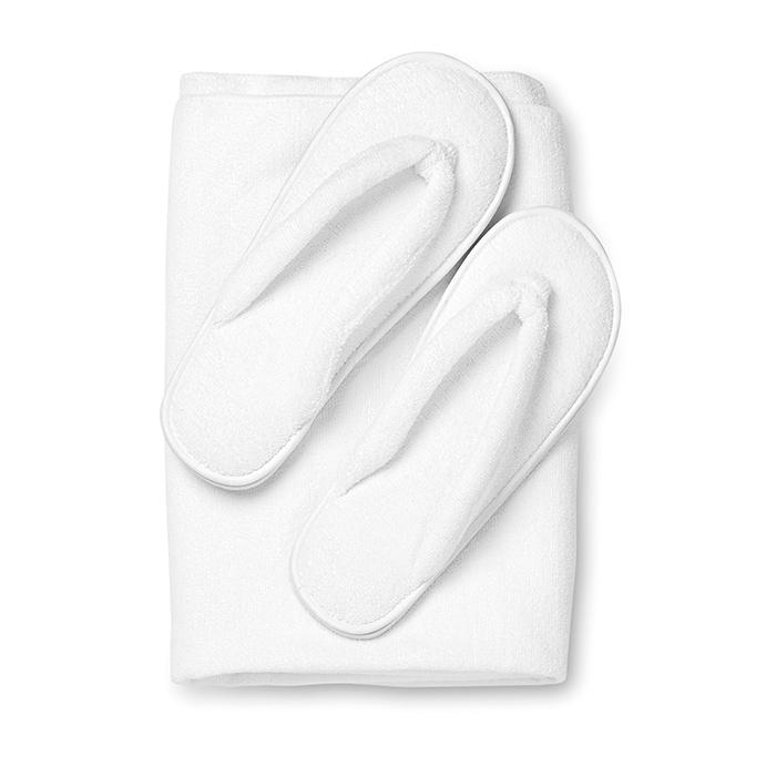 Juegos De Baño En Toalla:Toallas : Juego de toalla y zapatillas baño