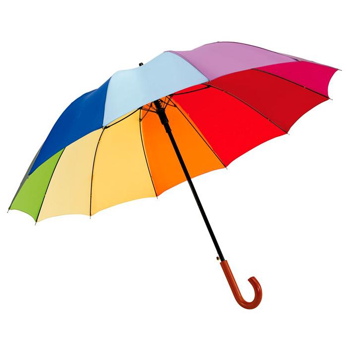 Paraguas 12 segmentos arco iris