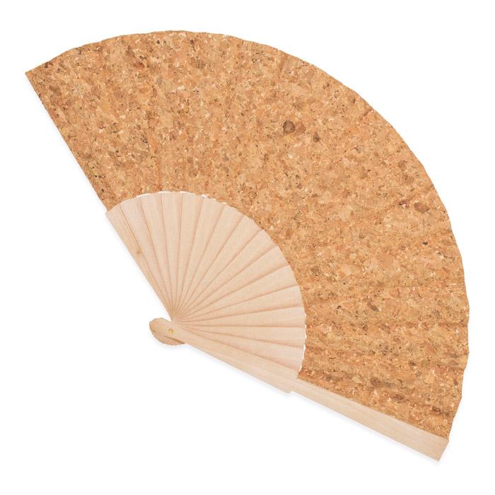 Abanico corcho y madera