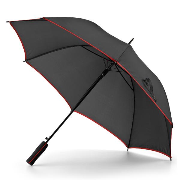 Paraguas automático negro línea color